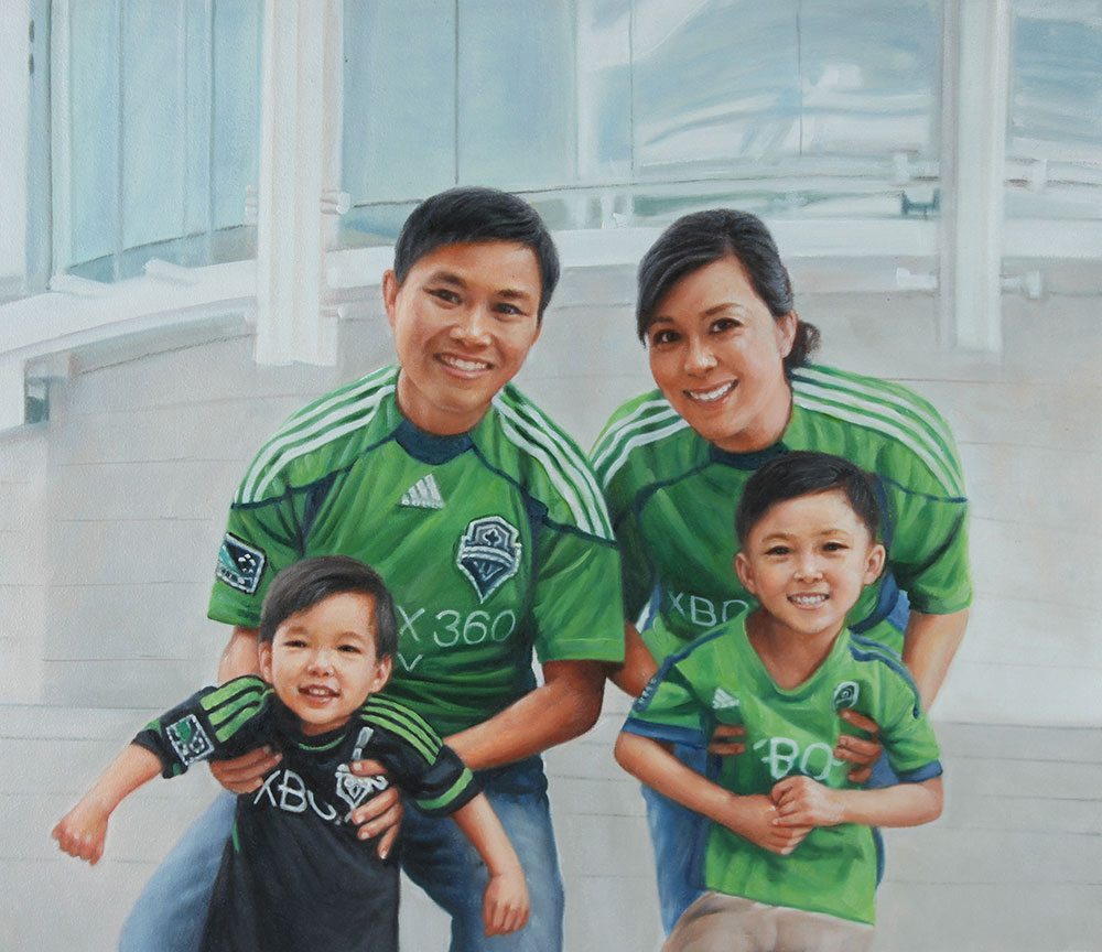 Family Portrait Gallery - Original Oil Portraits