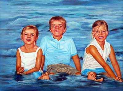Kids in Water - Realistic